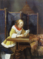 Gerard ter Borch A Lady reading a Letter
