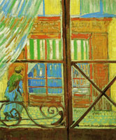 Vincent van Gogh A Pork-Butcher's Shop Seen from a Window