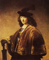 Govert Flinck Young man in a fantasy costume