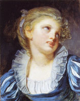 Jean-Baptiste Greuze Girl in a Blue Dress