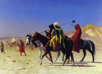 Jean-Leon Gerome Arabs crossing the desert