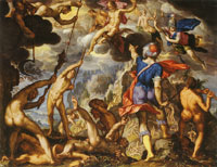 Joachim Wtewael The Battle between the Gods and the Giants