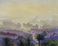 Albert Marquet The port of Algiers in the mist