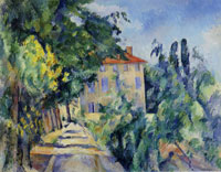 Paul Cézanne House with the red roof (Jas de Bouffan)