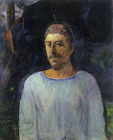Paul Gauguin Self-Portrait near Golgotha