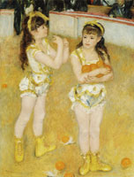 Pierre-Auguste Renoir Acrobats at the Cirque Fernando (Francisca and Angelina Wartenberg)