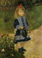 Pierre-Auguste Renoir Girl with a watering can