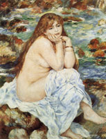 Pierre-Auguste Renoir Seated Bather