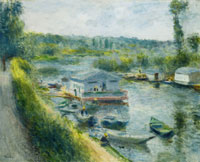 Pierre-Auguste Renoir Wash-House Boat at Bas-Meudon