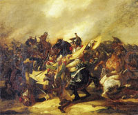 Théodore Gericault A Charge of Cuirassiers