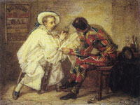 Thomas Couture Harlequin and Pierrot