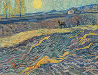 Vincent van Gogh Field with Ploughman