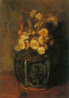 Vincent van Gogh Ginger jar with daisies