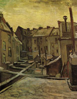 Vincent van Gogh Houses, seen from the back