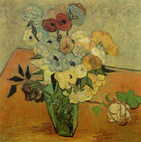 Vincent van Gogh Japanese Vase with Roses and Anemones