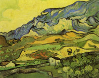 Vincent van Gogh Les Alpilles, Mountains near Saint-Rémy