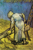Vincent van Gogh Peasant Woman Cutting Straw