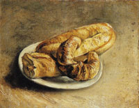 Vincent van Gogh A plate with rolls