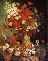 Vincent van Gogh Vase with poppies, daisies, cornflowers, and peonies