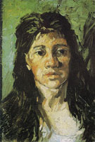 Vincent van Gogh Woman with her hair loose, head