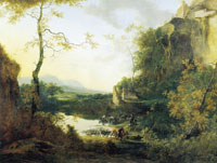 Attributed to Willem de Heusch Italian Landscape with a Pool