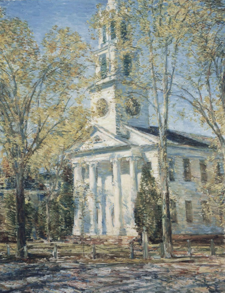 Childe Hassam - Church at Old Lyme