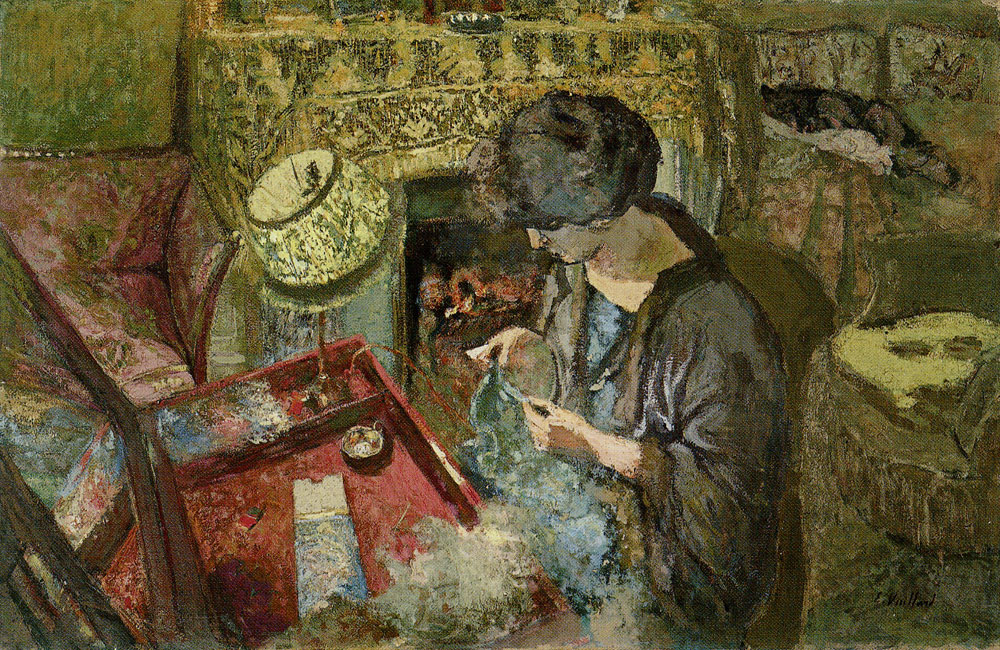 Edouard Vuillard - The Small Drawing-Room: Mme Hessel at Her Sewing Table