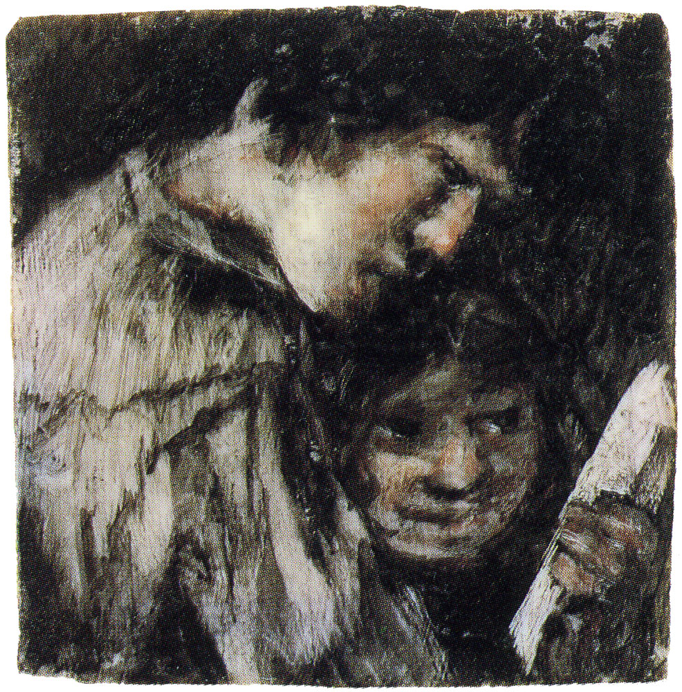 Francisco Goya - Two Children Looking at a Book
