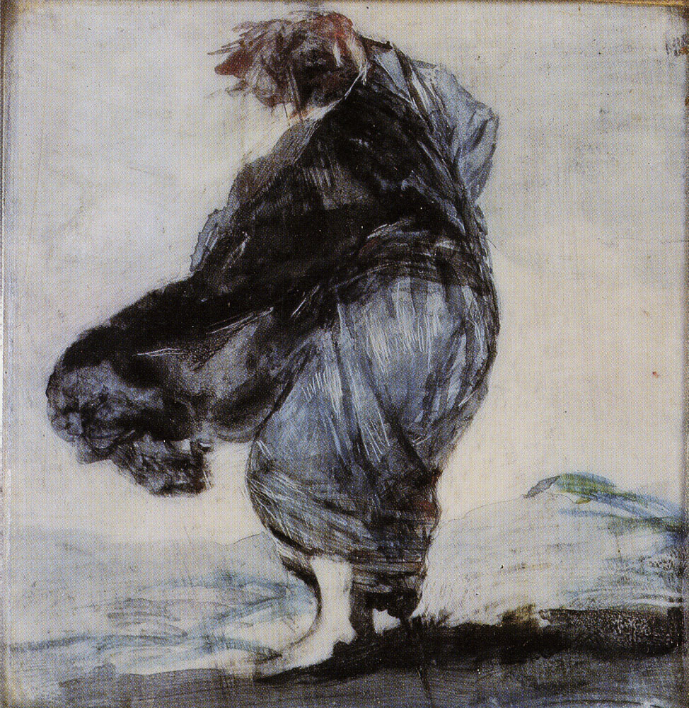 Francisco Goya - Woman with her Clothes Blowing in the Wind