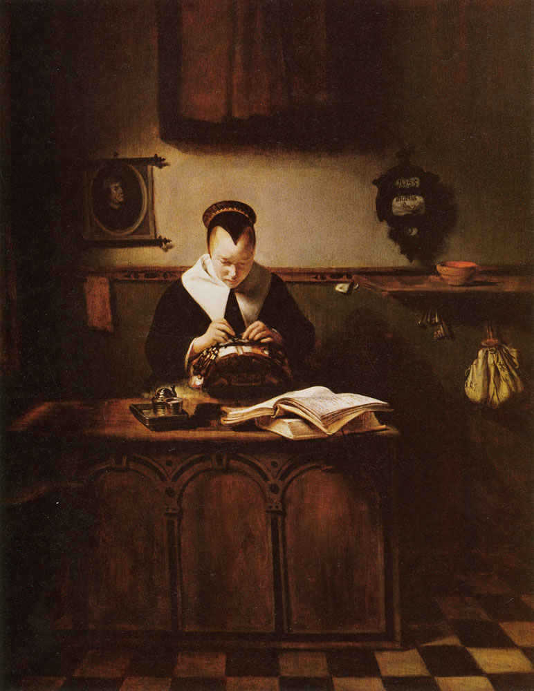 Nicolaes Maes - The lace maker
