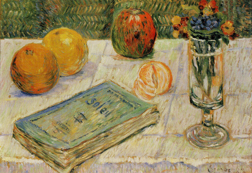 Paul Signac - Still Life with Oranges and a Book