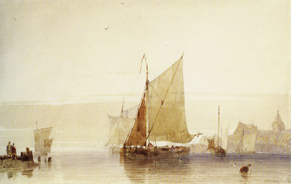 Richard Parkes Bonington - Fishing Boats
