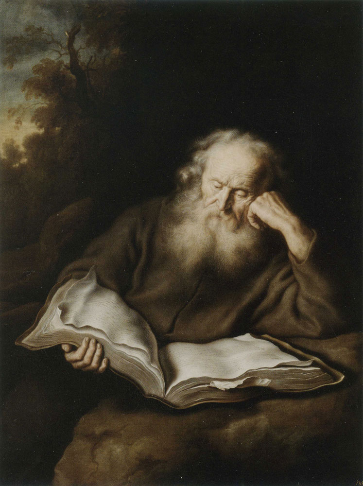 Salomon Koninck - A hermit reading