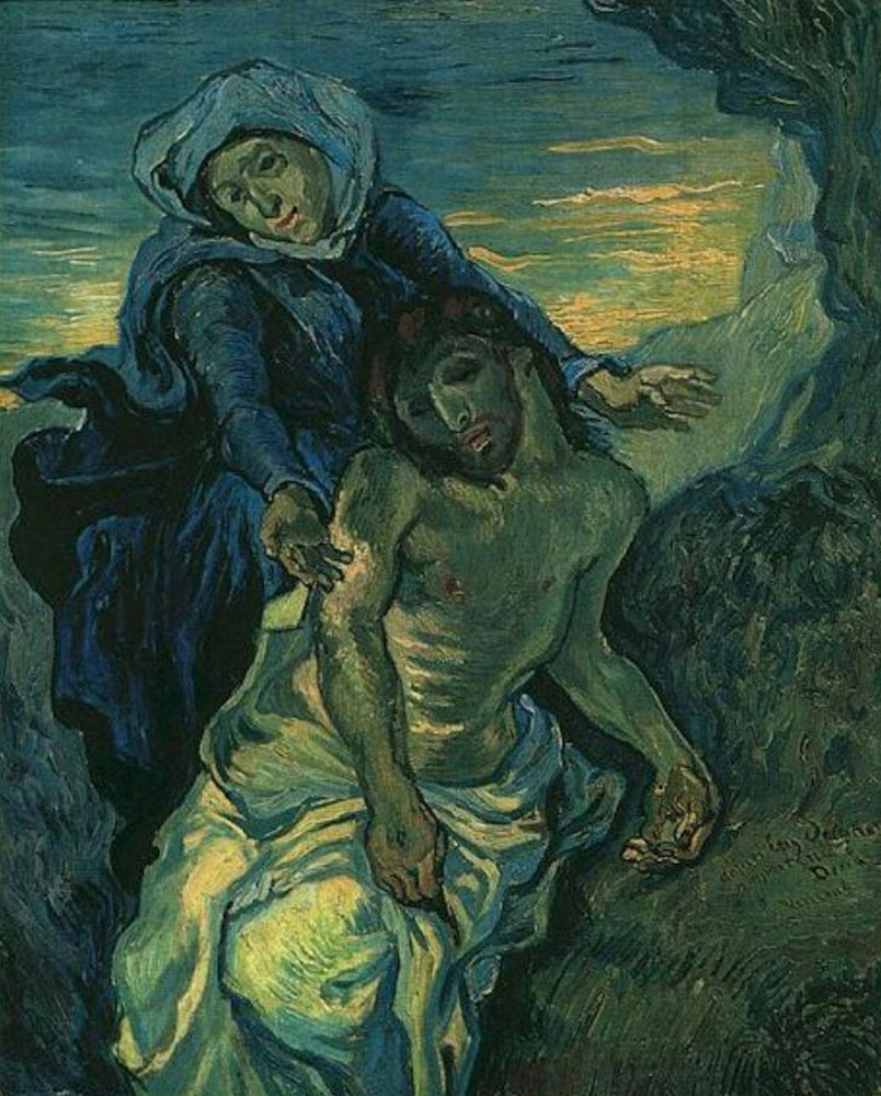 Vincent van Gogh - Pieta (after Delacroix)