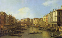 Canaletto Venice: the Grand Canal from the Palazzo Dolfin-Manin to the Rialto Bridge