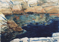 Childe Hassam Looking into Beryl Pool