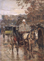 Childe Hassam Carriage, Rue Bonaparte