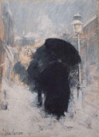 Childe Hassam A New York Blizzard