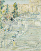 Childe Hassam The Spanish Stairs, Rome
