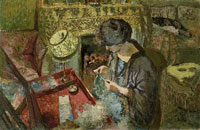 Edouard Vuillard The Small Drawing-Room: Mme Hessel at Her Sewing Table