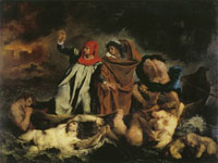 Eugène Delacroix - Dante and Virgil in Hell