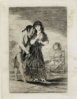 Francisco Goya Even Thus He Cannot Make Her Out (Working proof)