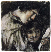 Francisco Goya Two Children Looking at a Book
