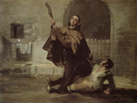 Francisco Goya Friar Pedro Clubs El maragato with the Gun-butt