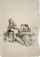 Francisco Goya Group with Sleeping Woman