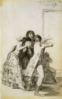 Francisco Goya Weeping Woman and Three Men