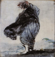 Francisco Goya Woman with her Clothes Blowing in the Wind