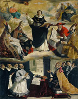 Francisco de Zurbaran The Apotheosis of Saint Thomas Aquinas