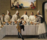 Francisco de Zurbaran Saint Hugo in the Refectory