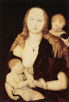 Hans Baldung Grien Maria with Child and an Angel